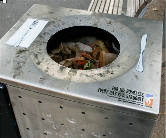 Guerrilla Advertisement about poverty