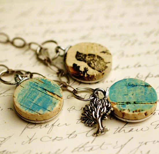 wine cork necklace - lovely