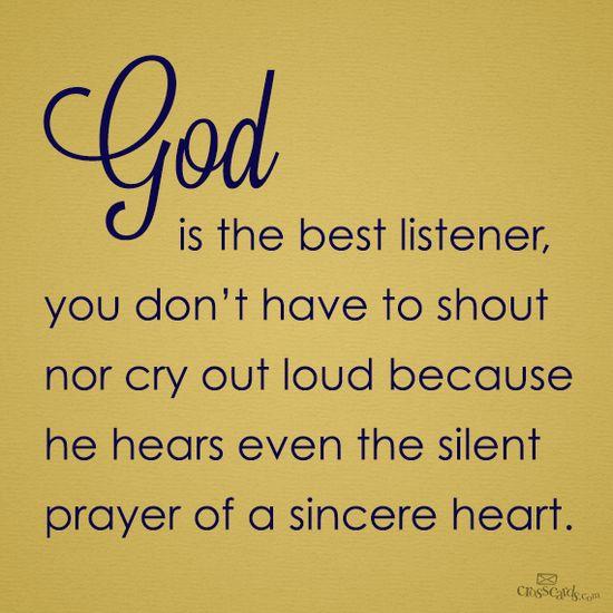 God is the best listener   www.facebook.com/...