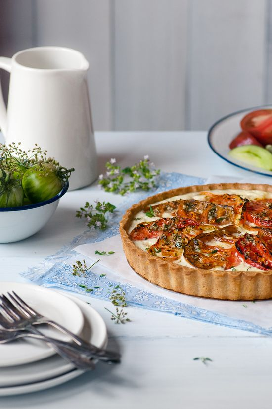Heirloom tomato tart by Michael at inspiring the everyday.