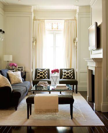 Living room - furniture arrangement, window