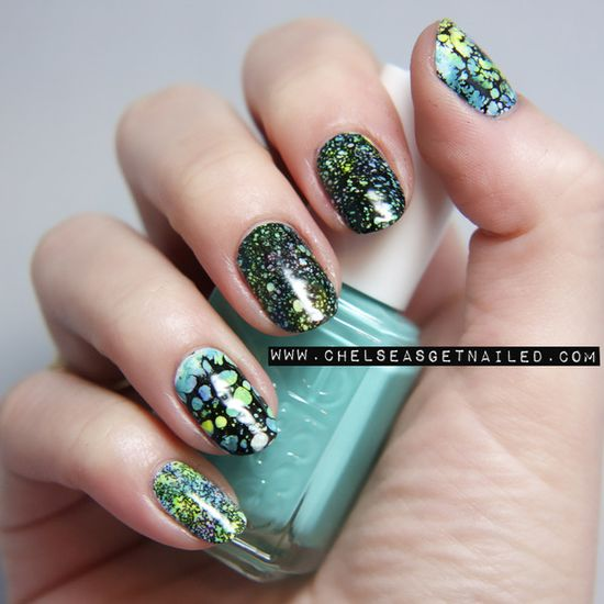 Watercolor Spotted Nails