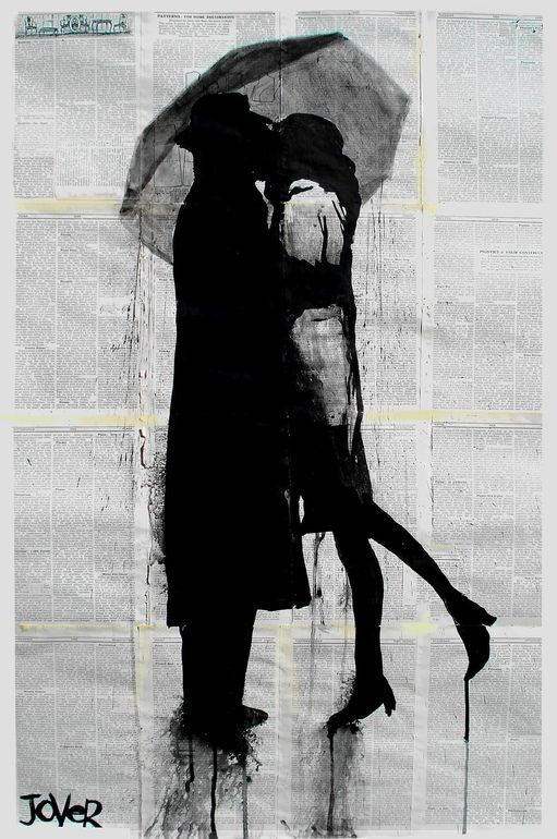 "Saatchi Online Artist: Loui Jover; Pen and Ink, Drawing ""tete-e-tete"""
