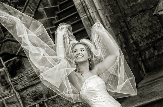 Allerton Castle Wedding images by Bristo Photography image take at the rear of the Castle