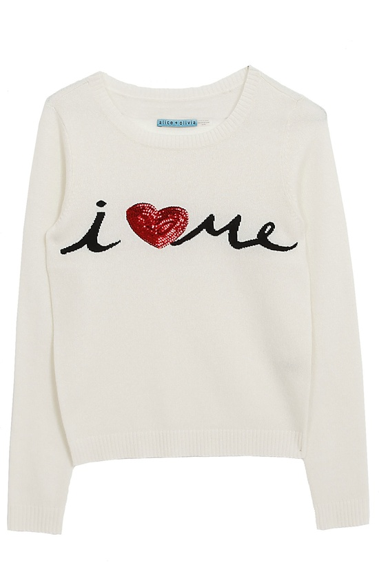 Alice & Olivia - I Heart Me embellished sweater