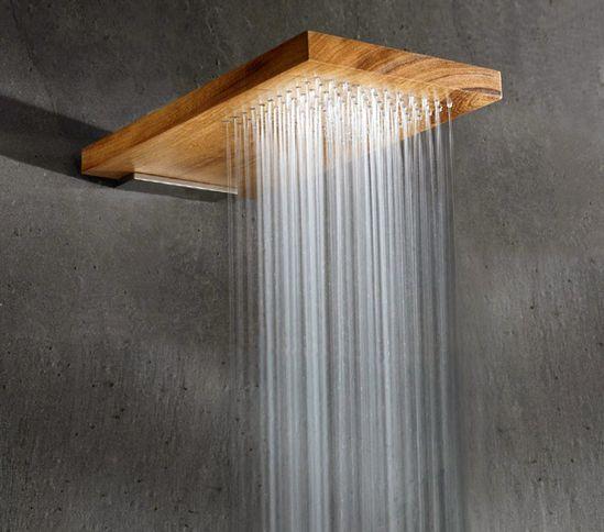 Natural wood shower