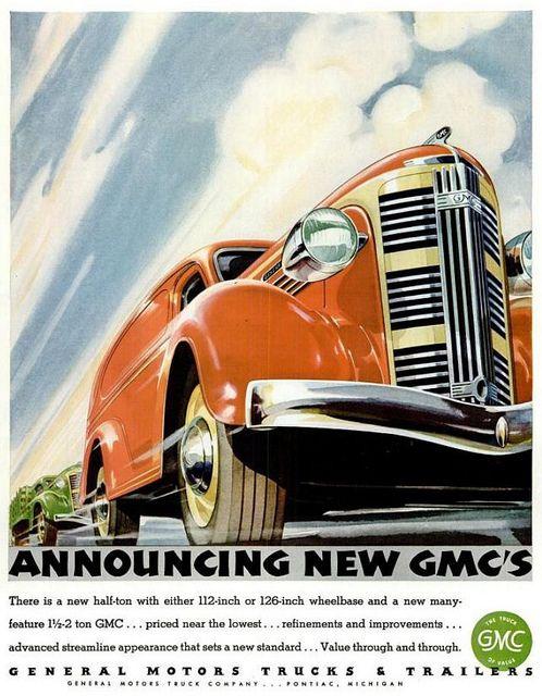 Advert - GMC Motor Car - Life Magazine Vol 1 No.1 1936 Nov  PANEL TRUCK