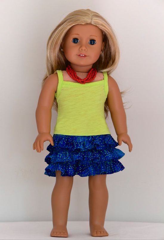 18 inch American Girl  Doll Clothing Batik Skirt by Simply18Inches