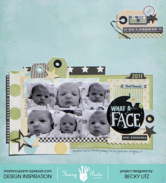 #papercraft #scrapbook #layout     What a Face - Scrapbook.com