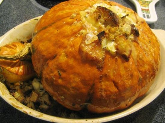 Pumpkin stuffed with everything