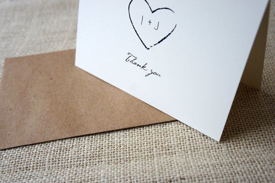 Rustic Thank You Cards by DawnCorrespondence on Etsy
