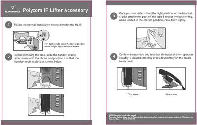 Polycom Telephones Require Handset Cradle Attachment (Plantronics #76141-01) networkedblogs.co...