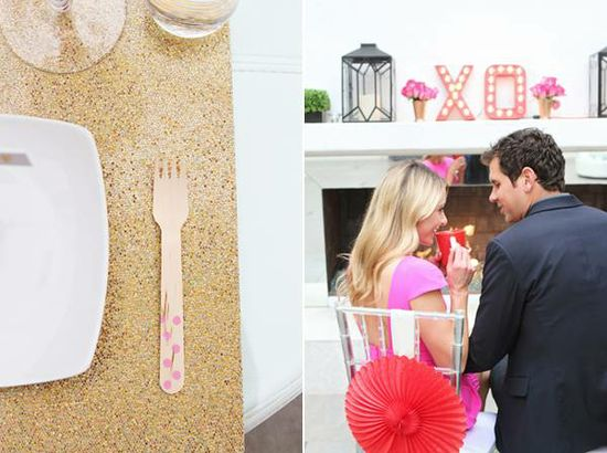 decorate your flatware with paint and a sparkles