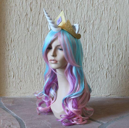 Princess Celestia crown -  My Little Pony costume / Friendship is Magic / cosplay / costume / Princess Celestia tiara. $30.00, via Etsy.