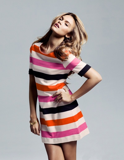 multistriped dress