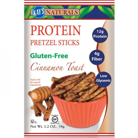 Best High Protein Snacks: Kay's Naturals Cinnamon Toast Protein Pretzel Sticks