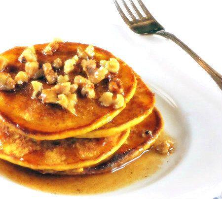 Pumpkin Pancakes with Cinnamon Brown Butter