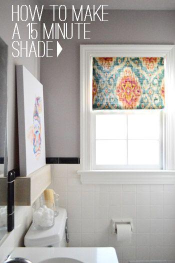 DIY~ 15 Minute Window Shade