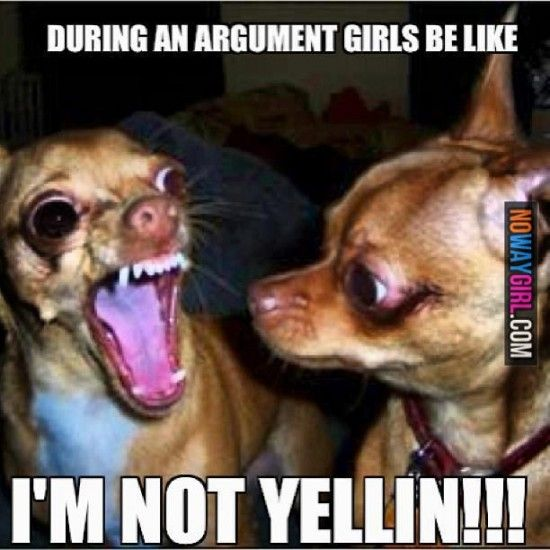 Funny Memes: During arguments girls be like this