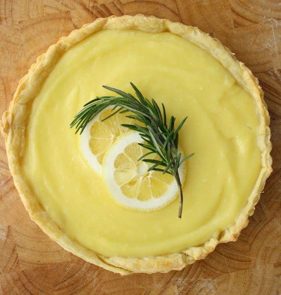 lemon & rosemary tart