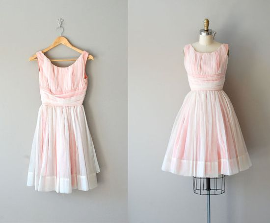 vintage 50s dress / 1950s dress / The Yum Yum Girl by DearGolden,