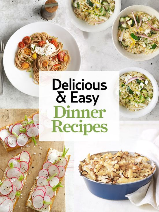 We pulled together 100+ quick and easy dinner ideas, easily organized by type: www.countryliving...