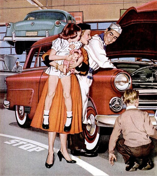 Vintage Ford 1951 Advertisement