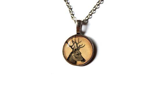 Cervidae jewelry Deer pendant Wild animal charm by newwoodland, $12.00