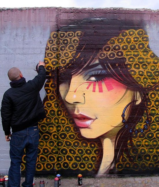 Girl face by Nassimo.org #graffiti #street #urban #art