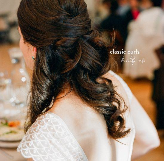 classic curls.  #bridal #hair #wedding. Bridal Hair Round Up  Read more - www.stylemepretty...