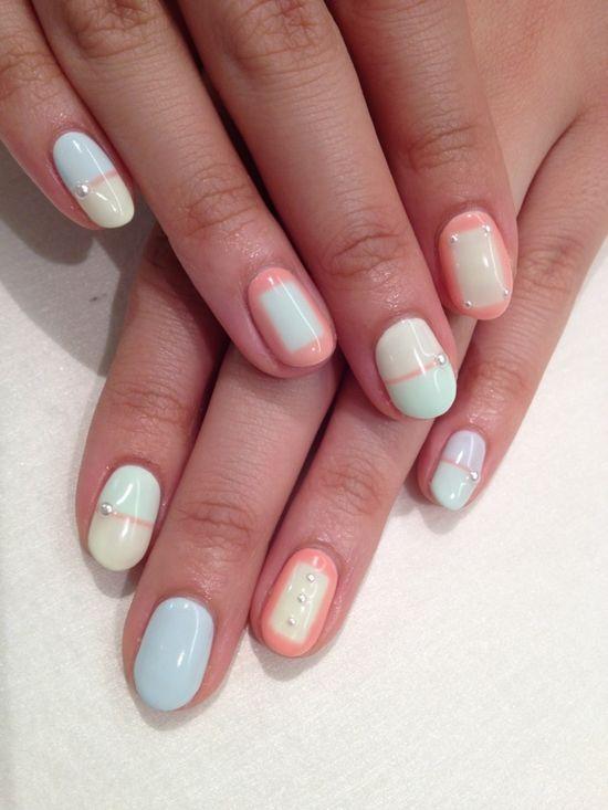 Pastel nail art #nails