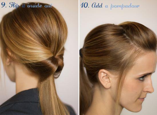 10 different ponytails