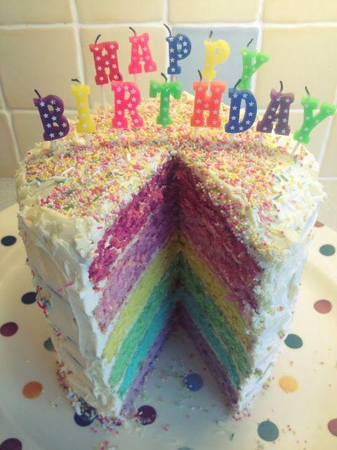 #Rainbow #cake