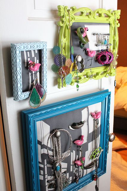 Not_Exactly_Martha made these picture frames into new jewelry holders!
