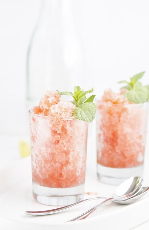 Prosecco Strawberry Granitas