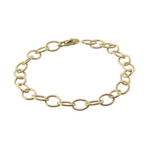 Heather Moore 14K Yellow Gold 7 Inch 6.3mm Yellow Gold Handmade Charm · 100001 · Ben Garelick Jewelers