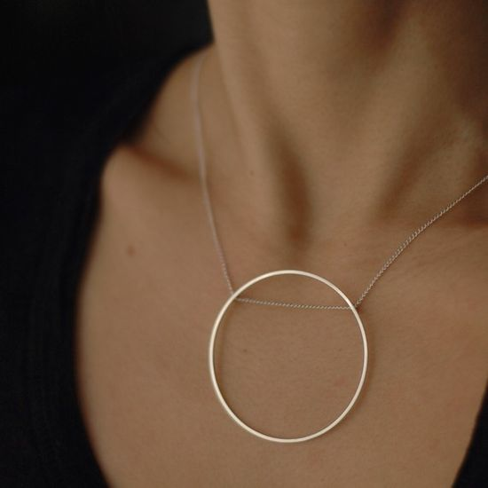 Rolling Oh silver necklace