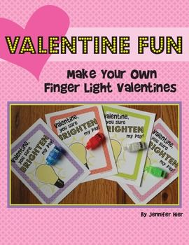 I can't wait to see their eyes light up when they get these Valentines!  Make your own finger light Valentine.