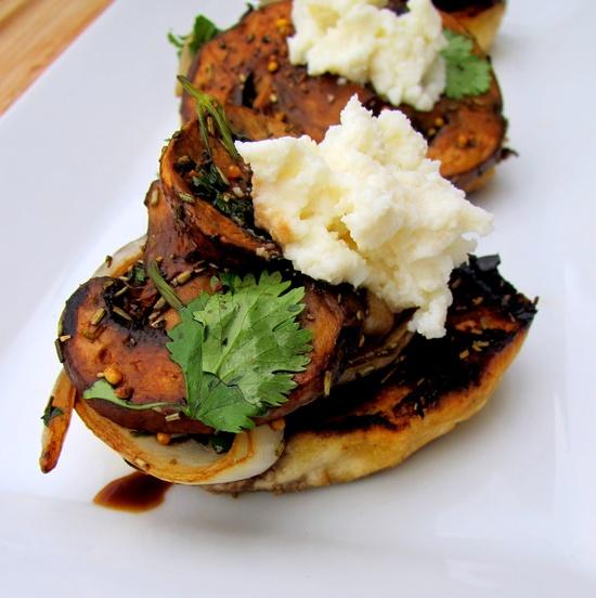 Grilled Wild Mushroom Bruschetta