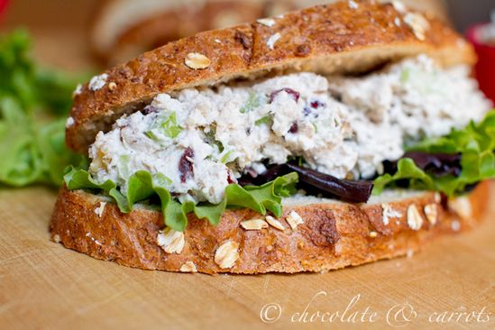 Healthy Chicken Salad from @chocandcarrots