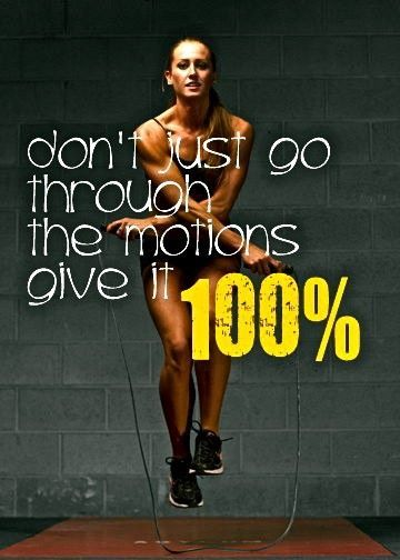 Always push 100% of the time!