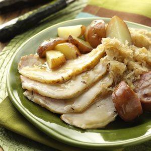 Oktoberfest Pork Roast Recipe from Taste of Home -- shared by Tonya Swain of Seville, Ohio