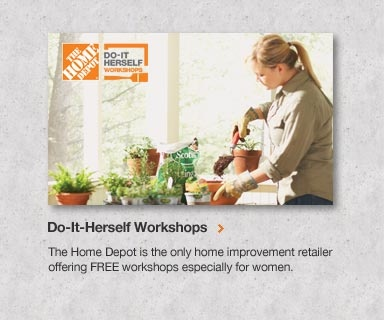 Hey ladies... come on down to the Poinciana Home Depot store #6851 Do-it-Herself class. It's free and open to the public. You can register online at home Depot.com/workshops. We look forward to seeing you there.