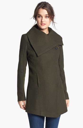 Sam Edelman 'Kit' Asymmetrical Wool Blend Coat available at #Nordstrom