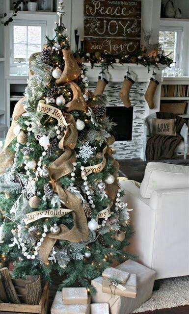 Christmas... love the burlap