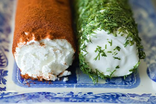 Goat cheese w/ fresh dill and paprika.