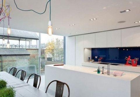 filament bulbs in modern kitchen decor