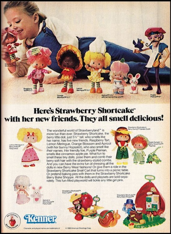 Kenner's adorable little Strawberry Shortcake toys. #retro #1980s #toys #nostalgia