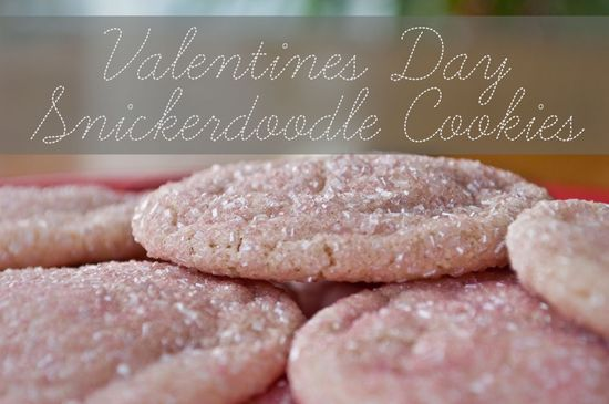 Valentine's Day Glitter Snickerdoodle Cookies Recipe! #valentines #day #cookies
