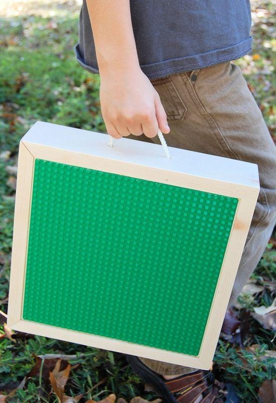 Portable lego box